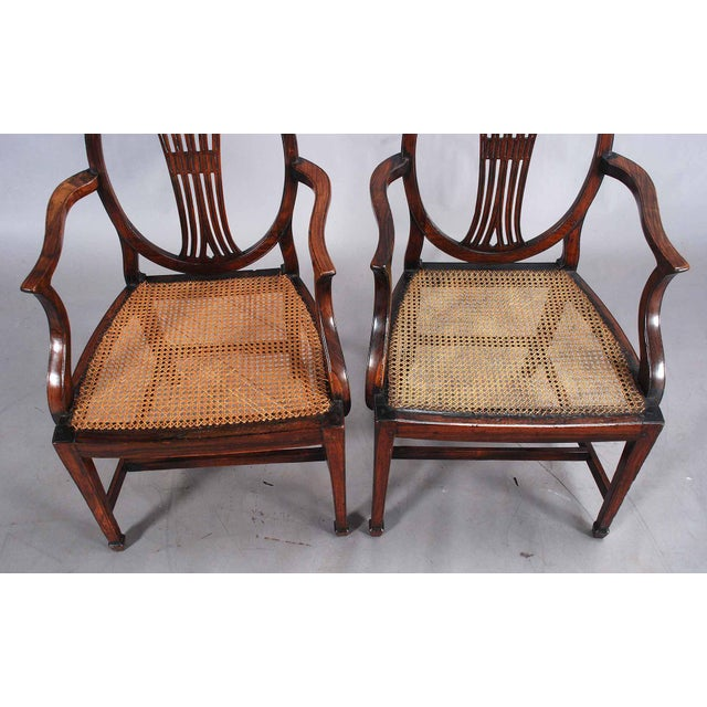 English 19th Century Rosewood Armchairs - a Pair For Sale - Image 3 of 9