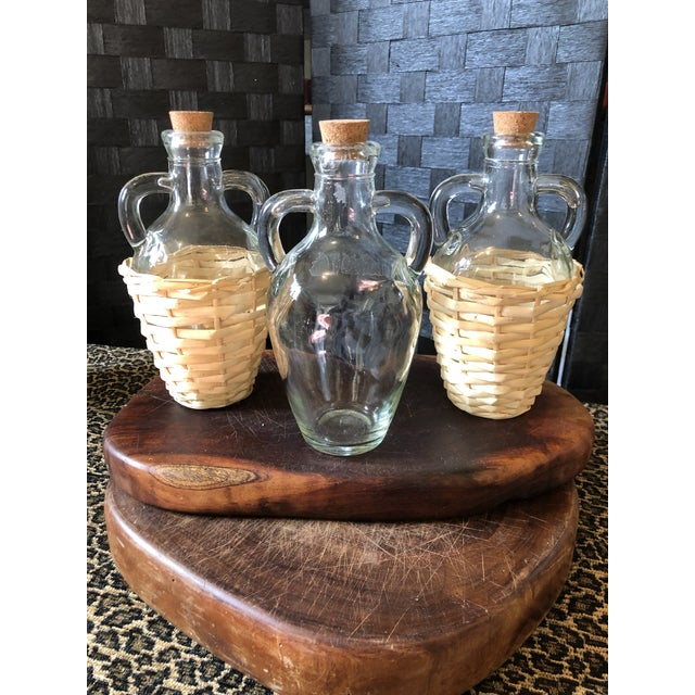 Wicker Wrapped Demijohn Bottles - Set of 3 For Sale - Image 4 of 13