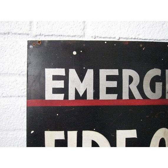 Vintage Emergency Fire Exit Sign - Image 3 of 6