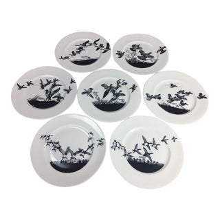 Lynn Bogus Hunt Bird Plates - Set of 7 For Sale
