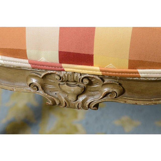Late 19th Century Late 19th Century Painted French Fauteuils - a Pair For Sale - Image 5 of 11