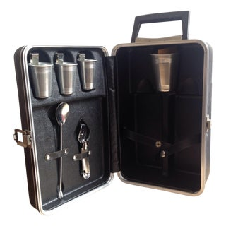 Mid-Century Travel Bar Kit For Sale