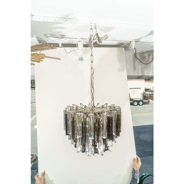 1970s Murano Glass Chandelier Smokey Topaz by Venini for Camer Glass For Sale - Image 5 of 10