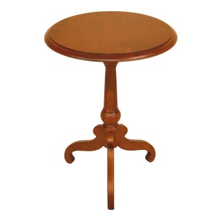 Ethan Allen Country Crossings Round Maple Occasional Table