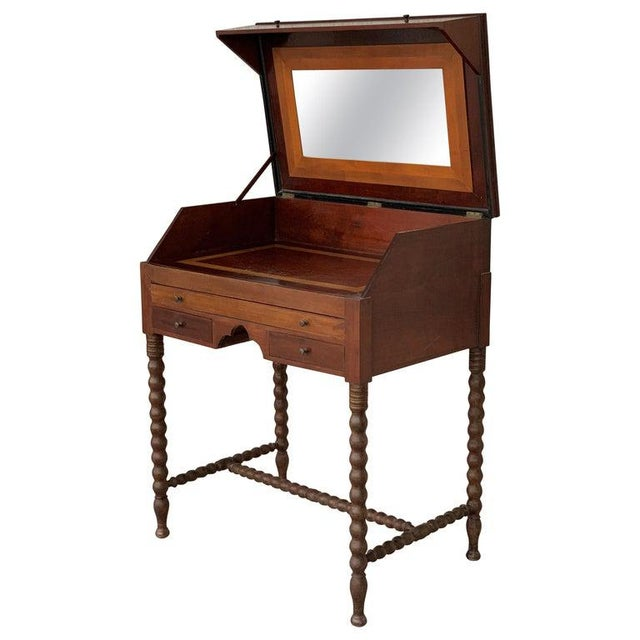 19th Rosewood Art Deco Open Up Vanity or Secretary Desk. Dressing Table For Sale - Image 11 of 11