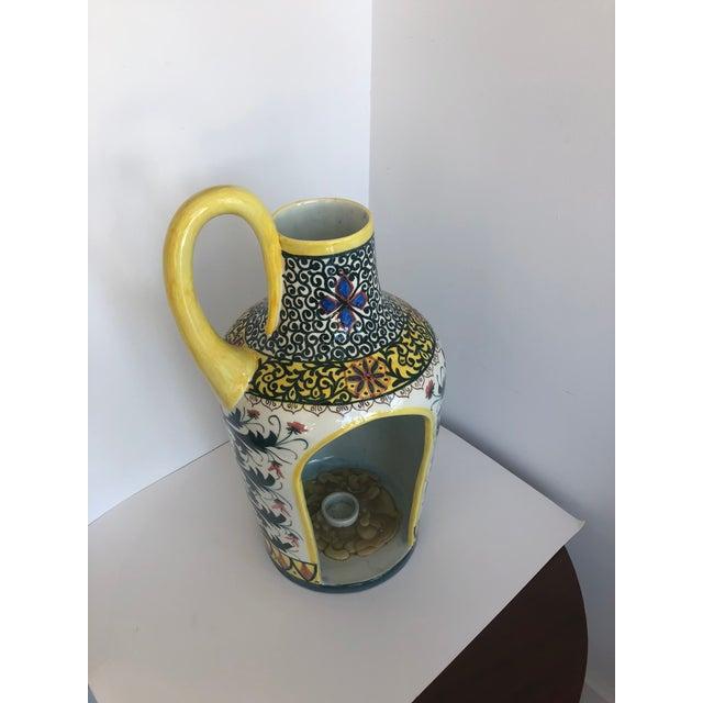 Vintage Boho Glazed Ceramic Candle Holder -- Spain For Sale In West Palm - Image 6 of 13