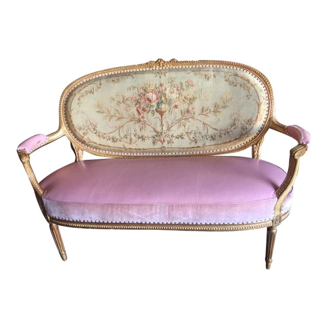 Early 20th Century Antique French Settee For Sale