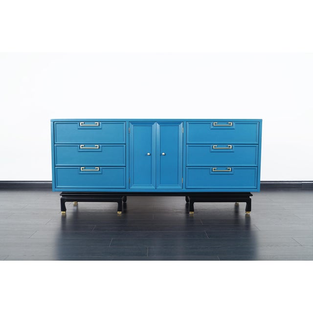 Vintage Lacquered Dresser by American of Martinsville For Sale In Los Angeles - Image 6 of 9