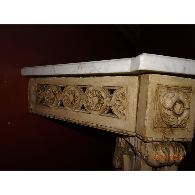 Mid 19th Century 19th Century French Console With Marble Top For Sale - Image 5 of 12