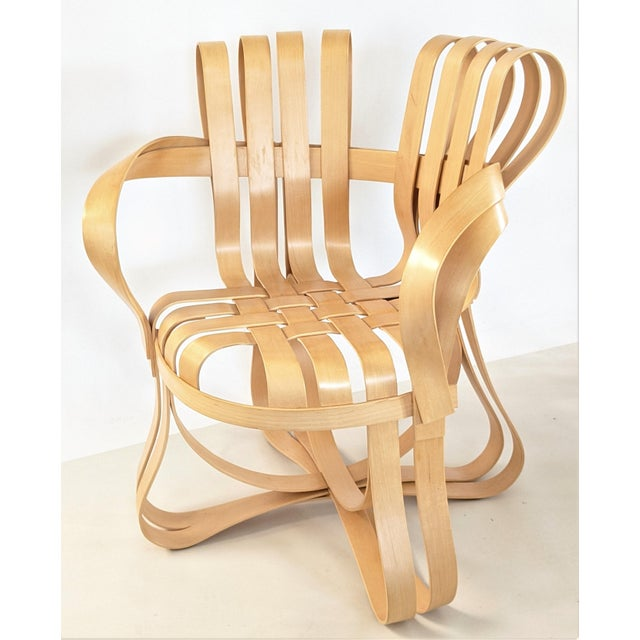 Frank Gehry for Knoll Cross Check Chair Maple Wood With Arms - a Pair For Sale - Image 10 of 13