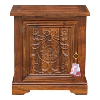 Granada Floral Night Stand Cabinet For Sale