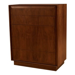 Mid-Century Walnut Tall Dresser by Dillingham For Sale