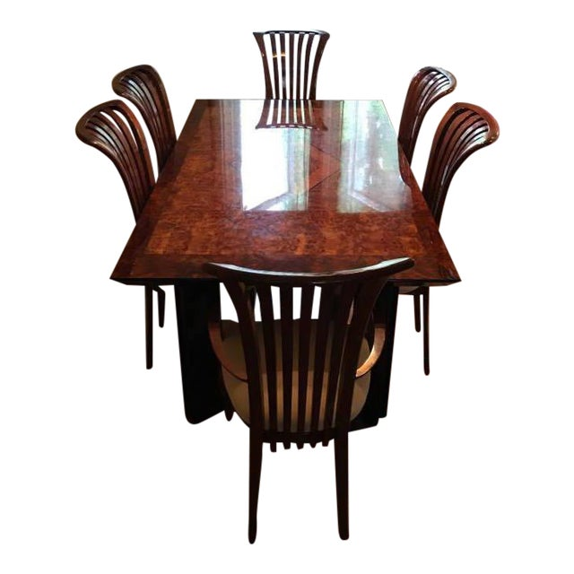 Maurice Villency Monte Carlo Lacquer Dining Table Chairs