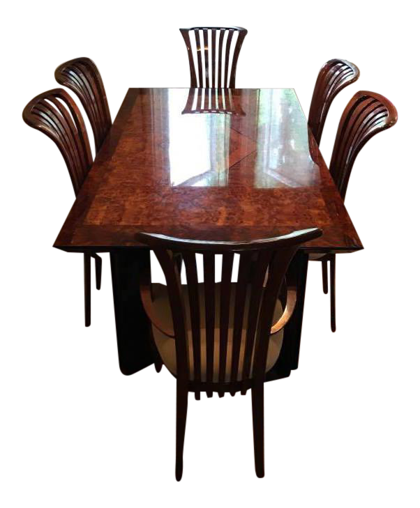 Superbe Maurice Villency Monte Carlo Lacquer Dining Table U0026 Chairs   Set ...
