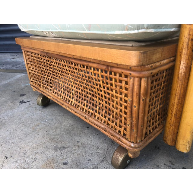 Mid Century Ficks Reed Rattan Lounge Chair For Sale In Tampa - Image 6 of 12