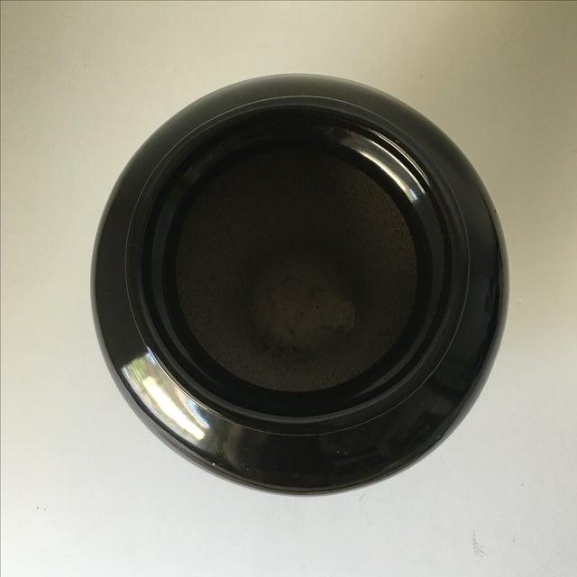 Black Ceramic Vase - Image 3 of 4