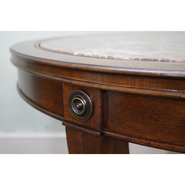 Drexel Heritage Mahogany Regency Center Table - Image 4 of 10
