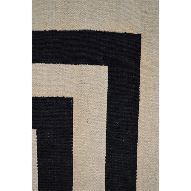 "Contemporary Maimana Kilim Rug - 6'7""x9'9"" - Image 4 of 6"