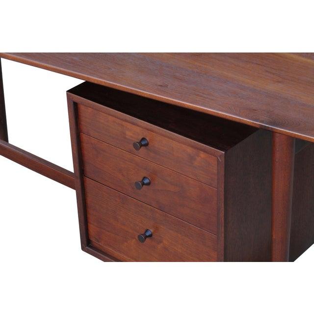 Wood Richard Artschwager Studio Walnut Desk For Sale - Image 7 of 7
