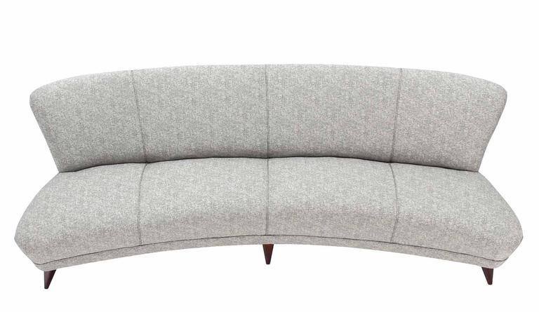 New Upholstery Curved Cloud Sofa   Image 3 Of 9