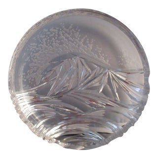 Capella Czech Bohemian Sandblasted Glass Wave Plate For Sale