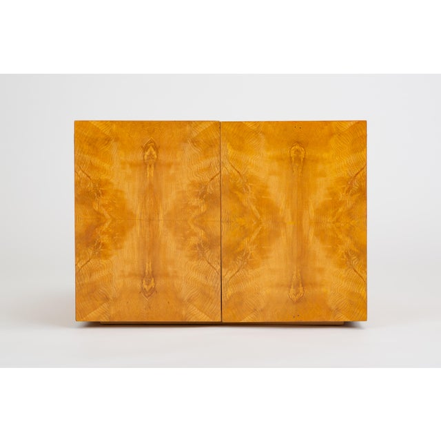 Mid-Century Modern Pair of Burl Wood Side Tables or Blanket Chests For Sale - Image 3 of 11