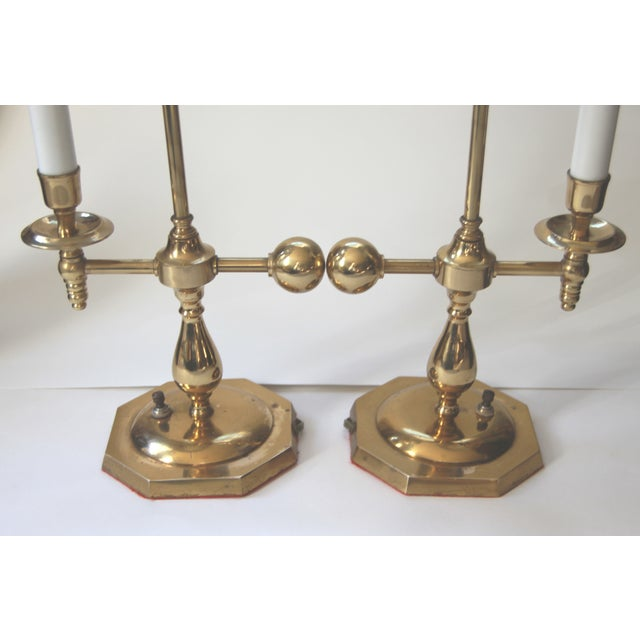 Bouillotte Solid Brass Table Lamps - Pair - Image 4 of 6