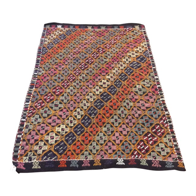 "1960's Turkish Kilim - 5'6""x8'6"" For Sale"