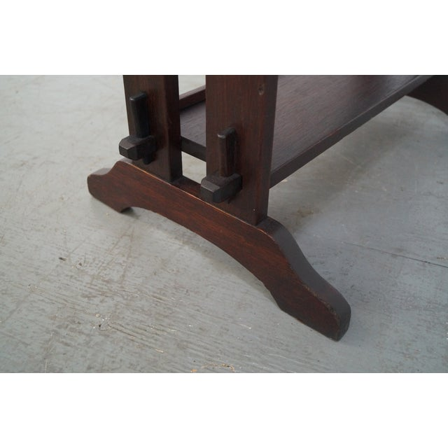 Roycroft Antique Mission Mahogany Journeys Stand For Sale In Philadelphia - Image 6 of 10