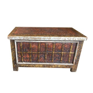 Vintage Mediterranean Trunk Chest/Coffee Table For Sale