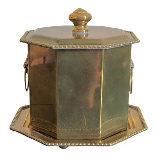 Mottahedeh Brass Tea Caddy For Sale