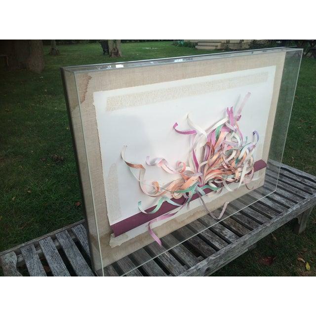 Greg Copeland Paper Sculpture in Plexiglass Frame - Image 3 of 7