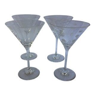 Mikasa Crystal Martini Glasses - Set of 4 For Sale