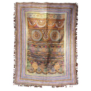 Early 20th Century Antique Gilded Sun Banjara Tapestry For Sale