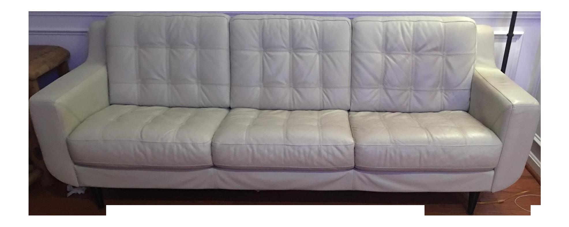 Mid Century Modern Leather Sofa Chairish