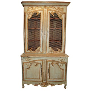 18th Century Painted & Gilded Buffet Deux Corps