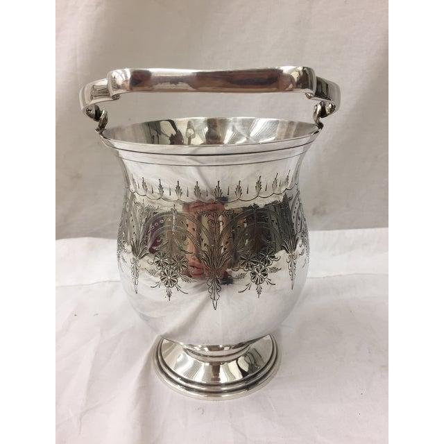 Antique Etched Silver Vase - Image 3 of 10