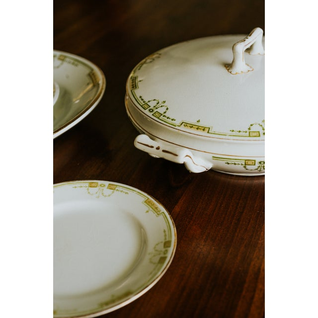 Art Deco 1920s Vintage W. H. Grindley & Co. China Dishes and Serving Platter For Sale - Image 3 of 10