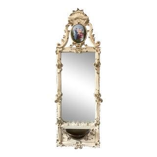 Vintage French Trumeau Mirror Planter