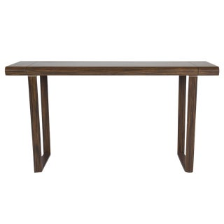 Macassar Wood Console Table, Circa 1970 For Sale