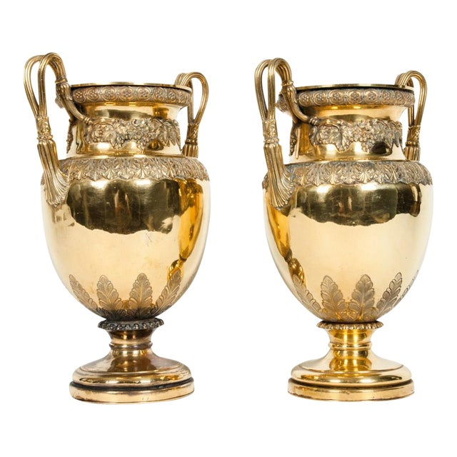 Old English Bronze Decorative Vases For Sale