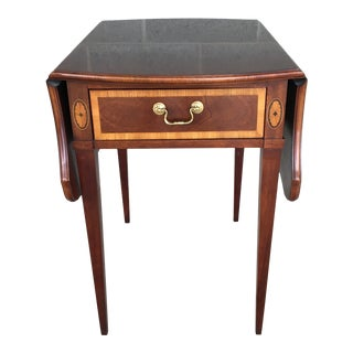 Thomasville Banded Mahogany Collection Pembroke Drop Leaf Accent Table For Sale