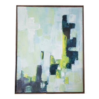 Green Abstract Art Piece For Sale