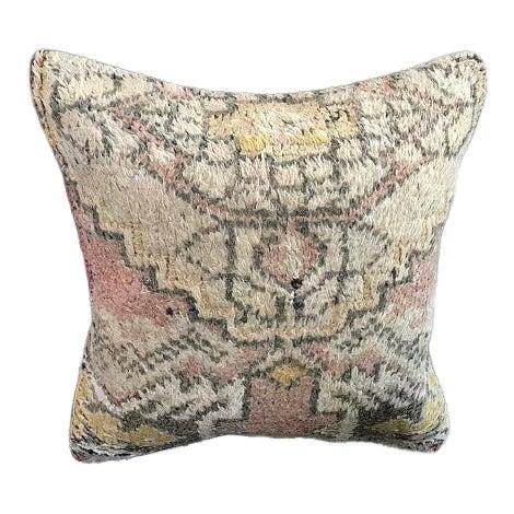 Turkish Anatolian Oushak Wool Pillow Case For Sale