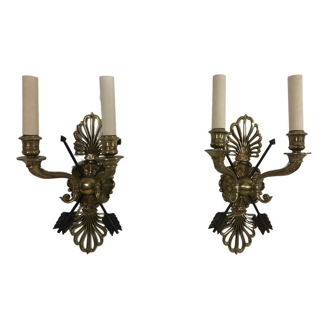Empire Period Wall Sconces a Pair For Sale