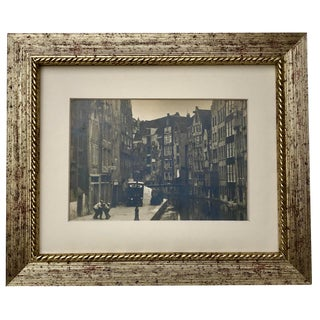 Antique Original Photograph Amsterdam Old Jewish Quarter C. 1920 For Sale