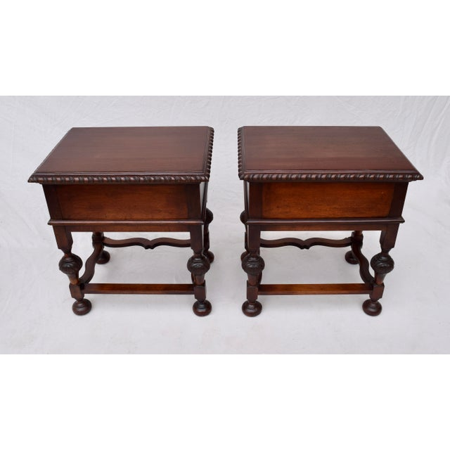 Jacobean Style Side Tables or Nightstands For Sale - Image 9 of 10