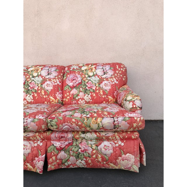 Vintage Floral Morris James Sofas - A Pair - Image 9 of 11