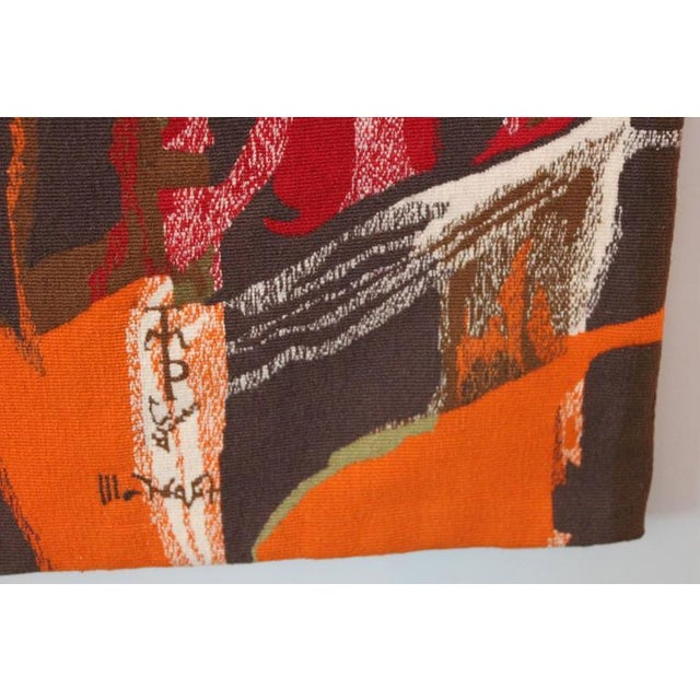 """1950s Mathieu Matégot Tapestry Titled """"19 Composition"""" For Sale - Image 5 of 10"""