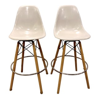 Vintage Mid-Century Eames Herman Miller Counter Stool - a Pair For Sale